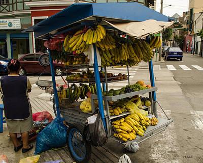 Photograph - Fruit Cart by Allen Sheffield