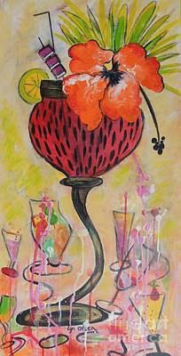 Art Print featuring the painting Fruit Cocktail Anyone by Lyn Olsen
