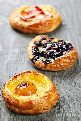 Photograph - Fruit Danishes by Elena Elisseeva