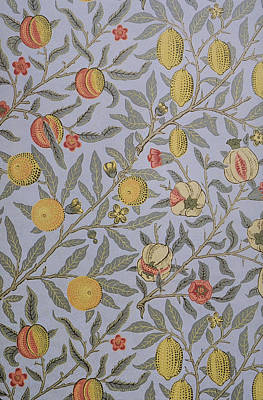 Tapestry - Textile - Fruit Design 1866 by William Morris