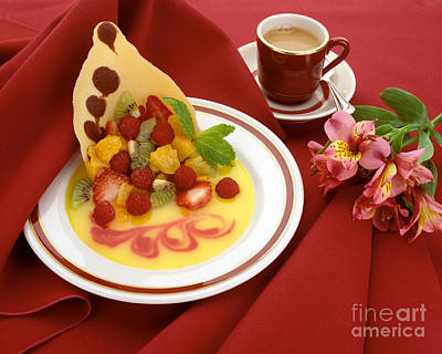 Photograph - Fruit Dessert And Coffee by Craig Lovell