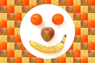 Fruit Face Art Print by Natalie Kinnear