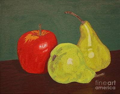 Fruit For Teacher Art Print by Vicki Maheu