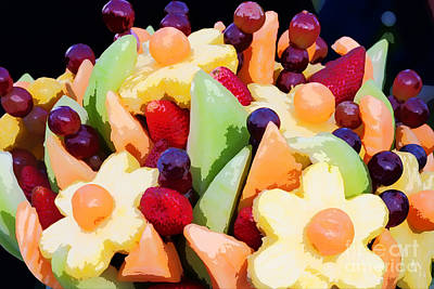 Photograph - Fruit Kabobs by Cindy Singleton