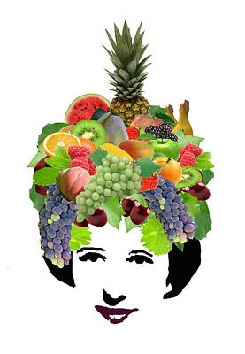 Fruit Lady Art Print by Jennifer Schwab