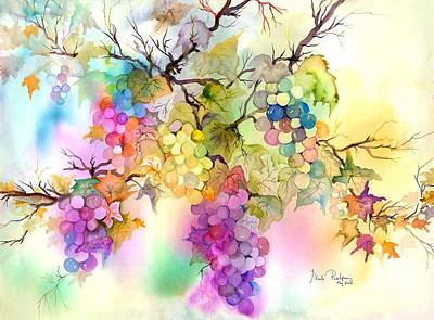 Bar Decor Painting - Fruit On The Vine by Neela Pushparaj