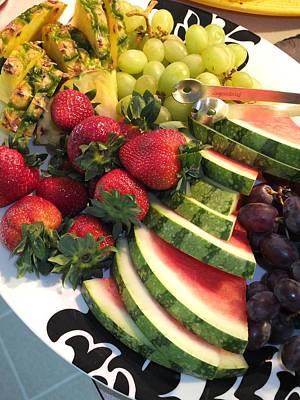 Fruit Plate Art Print