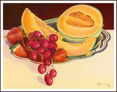Painting - Fruit Platter by Mariarosa Rockefeller
