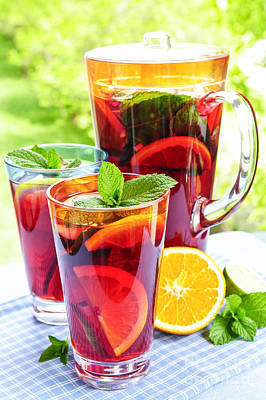 Food And Beverage Royalty-Free and Rights-Managed Images - Fruit punch  by Elena Elisseeva