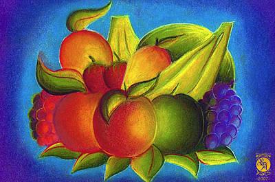Fruit Art Print by Richard Bantigue