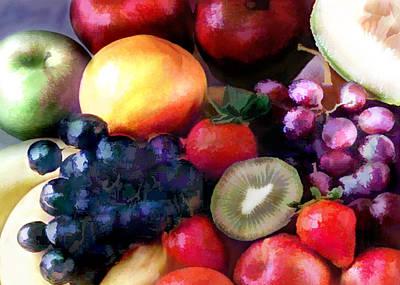 Kiwi Painting - Fruit Salad by Elaine Plesser