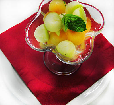 Salade Digital Art - Fruit Salade Dessert by Gina Dsgn
