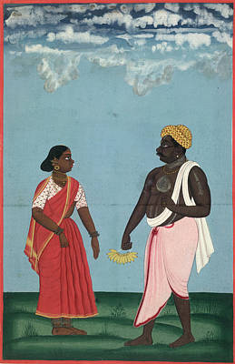 Fruit-seller And Wife Art Print by British Library