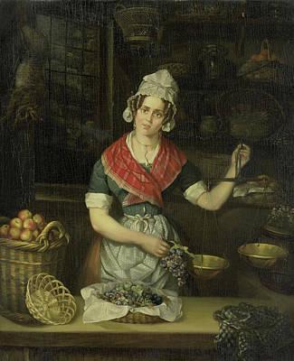 Christina Drawing - Fruit Seller, Henriëtta Christina Temminck by Litz Collection