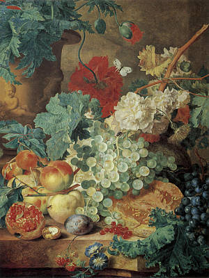 Painting - Fruit Still Life by Jan Van Huysum