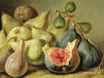 Pears Painting - Fruit Still Life by Johann Heinrich Wilhelm Tischbein