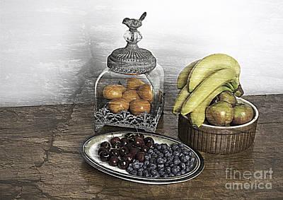 Fruit Still Life Art Print by Lesley Rigg