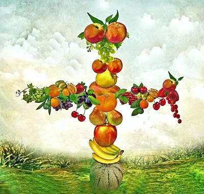 Fruit Tree Art Print by Manfred Lutzius