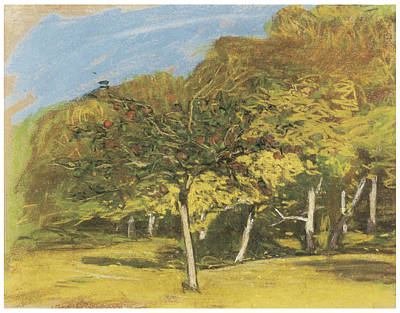 Fruit Tree Art Painting - Fruit Trees by Claude Monet