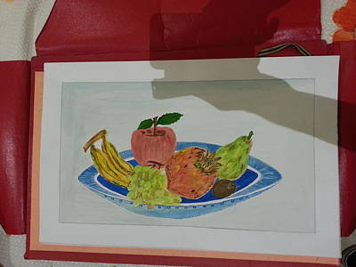 Etc Painting - Fruit Trey by Ramroop Yadav