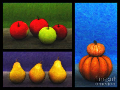 Digital Art - Fruit Trilogy by Jutta Maria Pusl