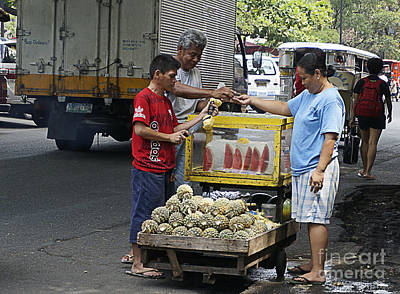 Photograph - Fruit Vendor by Ron Roberts