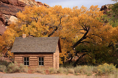 Photograph - Fruita Schoolhouse, Capital Reef, Utah by Aidan Moran