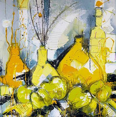 Naturmort Painting - Fruitful 3 by Irina Rumyantseva