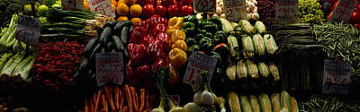 Fruits And Vegetables At A Market Art Print by Panoramic Images