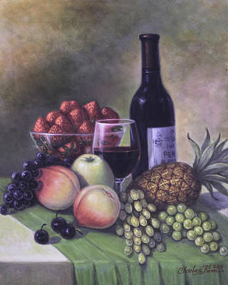 Fruits And Wine Original by Charles Kim