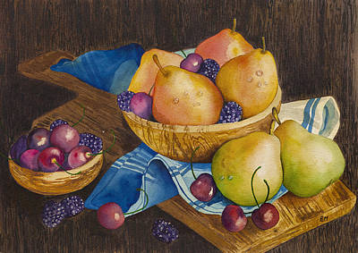 Painting - Fruits by Elena Mahoney