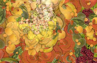 Blue Fig Digital Art - Fruits by Odon Czintos