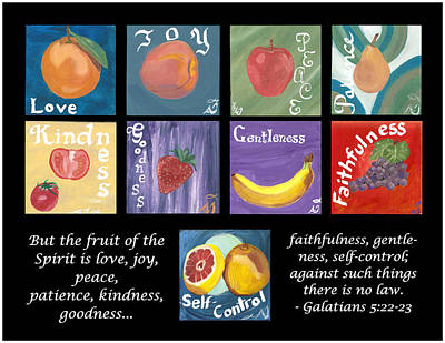 Painting - Fruits Of The Holy Spirit by Amber Joy Eifler