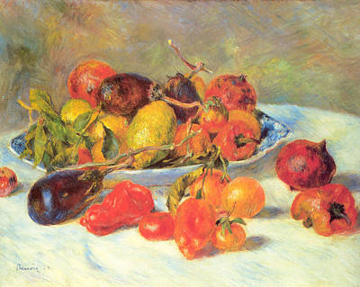 Art Print featuring the painting Fruits Of The Midi  by Renoir