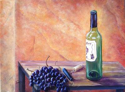 Italian Wine Painting - Fruits Of The Vine by Connie Townsend