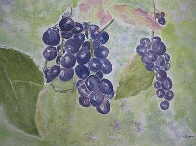 Fruits Of The Wine Art Print by Elvira Ingram