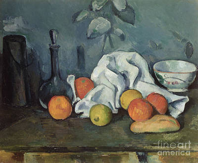 Loaves Painting - Fruits by Paul Cezanne