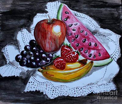 Painting - Fruits  by Saranya Haridasan