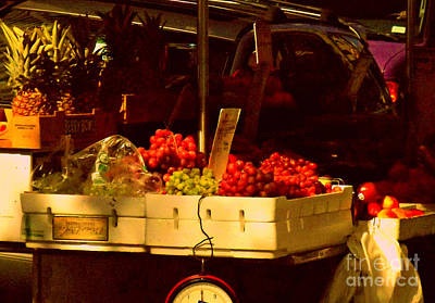 Fruitstand With Pineapples Art Print by Miriam Danar