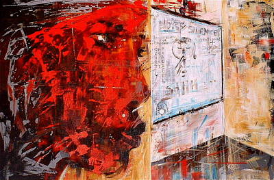 Painting - Frustrations Of An A... by Laurend Doumba