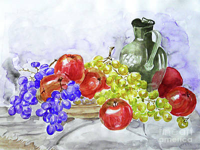 Art Print featuring the painting Fruit After Him by Jasna Dragun