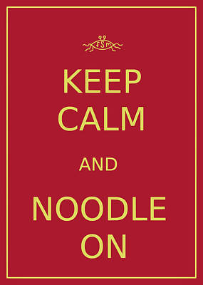 Photograph - Fsm - Keep Calm And Noodle On by Richard Reeve