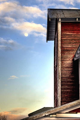 Jerry Sodorff Royalty-Free and Rights-Managed Images - Ft Collins Barn and Moon 13586 by Jerry Sodorff