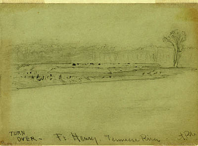 Tennessee Drawing - Ft. Henry. Tennessee River by Quint Lox