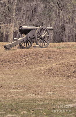 Photograph - Ft. Mcallister Cannon 2 View 2 by Jonathan Harper