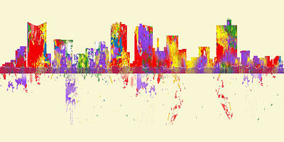 Digital Art - Ft. Worth Tx Skyline by Loretta Luglio