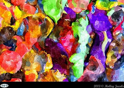Digital Art - Fuchsia Good Taste by Holley Jacobs