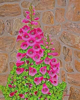 Fuchsia Profusion Art Print by Donna  Manaraze