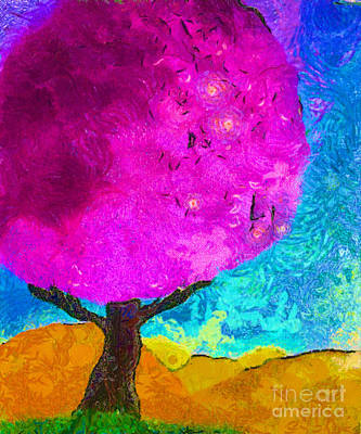 Painting - Fuchsia Tree II by Anita Lewis