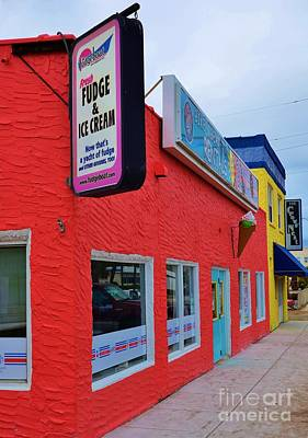 Photograph - Fudge And Ice Cream Shop by Bob Sample